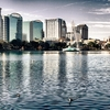 View Downtown Orlando FL From Lake Eola Park