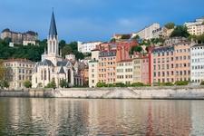 View Embankment Buildings In Lyon