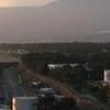 View From Numazu Harbor Towards Mount Fuji In Clouds