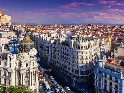 View Gran Via Street In Madrid