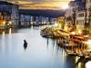 Grand Canal From Rialto Bridge At Night