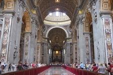 View Inside Saint Peter's Basilica - Vatican