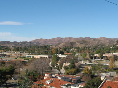 View Of Agoura Hills Looking From Southern Edge Of The Historic