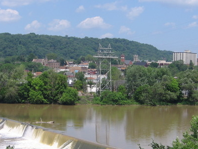 View Of Beaver Falls From The Borough Of New Brighton.