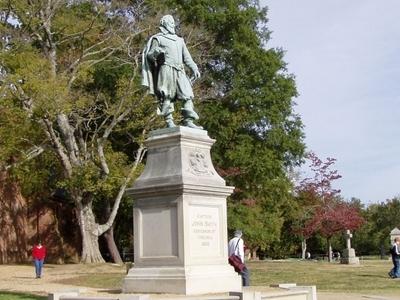 View Of  James  Town  Island  2 C  Captain  John  Smith  Statue