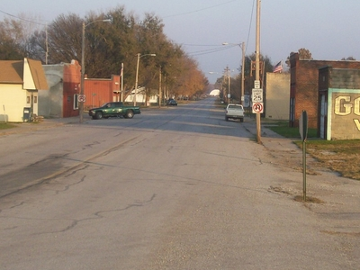 View Of Pacific Junction Looking East Down Lincoln Avenue From