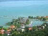 View Of Port Of Fonyód And Lake Balaton