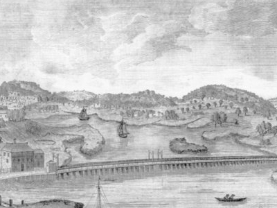 View Of The Bridge Over Mystic River