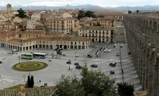 View Segovia Town With Aqueduct