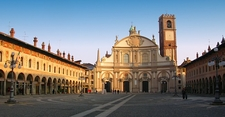 Vigevanos Famous Piazza Ducale With The Cathedral Faade