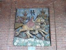 Viking On Oslo City Hall Courtyard Wall