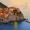 Village Manarola At Sunset