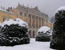 Villa Olmo After A Snowfall.