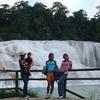 Visitors At Agua Azul Waterfalls In Chiapas