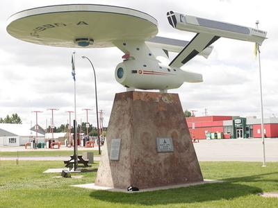 Vulcan's Starship FX6-1995-A, Replica Of The Starship Enterprise