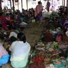 Vegetables And Dried Fish Market