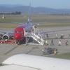 Virgin Blue Passengers Disembarking At Launceston Airport