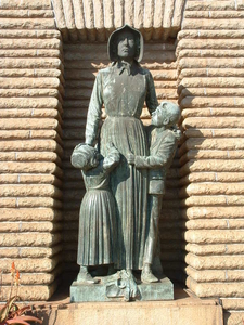 Voortrekker Woman And Children Statue