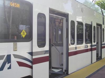 VTA Light Rail Car At Gish