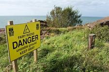 Warning @ Whitehaven UK Cumbria