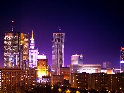 Warsaw City At Night