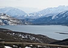 Wasatch Range Winter View UT