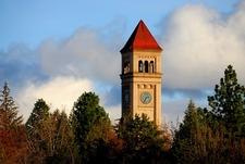 WA Spokane Clock Tower In Riverfront Park