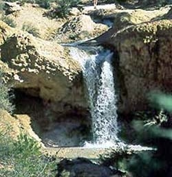 Waterfall At Mossy Cave