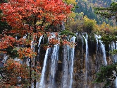 Waterfall In Jiuzhaigou Valley