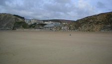 Watergate Bay At Low Tide