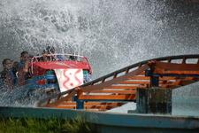 Essel World Roller Coaster Splashes Water