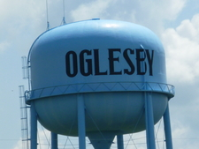 Water Tower Near I 39 In Oglesby Illinois