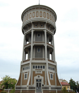 Water Tower In Szent István Square