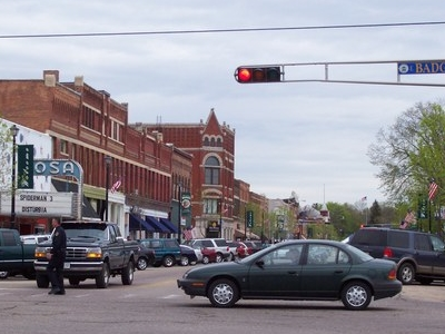 Waupaca Wisconsin Downtown During Sesquicentennial