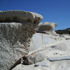 Weathered Rocks At Camps Bay Beach