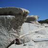 Weathered Rocks At Camps Bay Beach