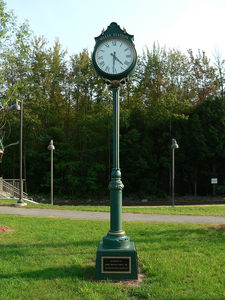 Wells Maine Transportation Center Memorial Clock