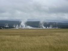 West Sprinkler Geyser - Basin Area - Yellowstone - USA