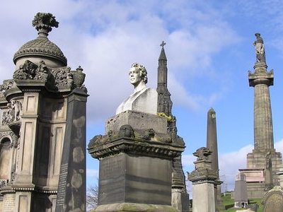 Monuments On The Summit Of The Glasgow Necropolis Hill