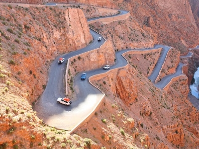 Winding Atlas Mountains Road