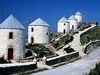 Windmills Overlooking Hora - Dodecanese Leros Greece