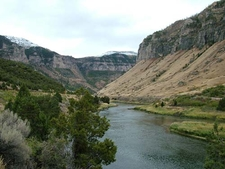 River In Wind River Canyon