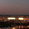 Wolfsburg Panorama At Dusk Viewed From Schillerteich Center. The