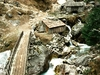 Wooden Bridge At Phakding - Dudh Kosi River Nepal