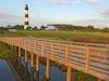 Wooden Walkway On Bodie Island - North Carolina