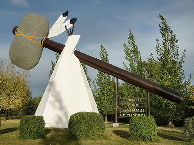 World's Largest Tomahawk In Cut Knife, Saskatchewan