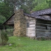 Walker Cabin Showing The Older Section And Porch
