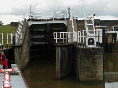 Weighton Lock At The Entrance To The Canal