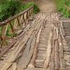 Wooden Bridge Over Tarang River