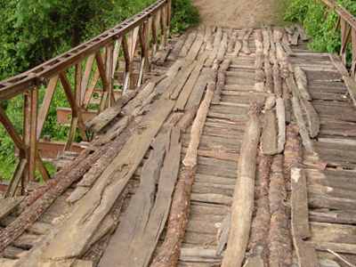 Wooden Bridge Over Tarang River
